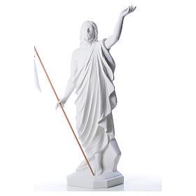 Risen Jesus statue in reconstituded Carrara marble, 100 cm s3