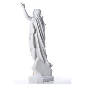 Risen Jesus statue in reconstituded Carrara marble, 100 cm s4