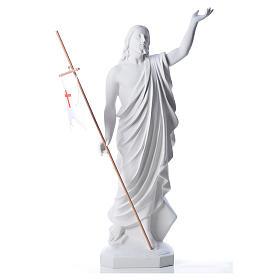 Risen Jesus statue in composite Carrara marble, 100 cm s1