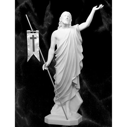 Risen Jesus statue in reconstituded Carrara marble, 100 cm 1