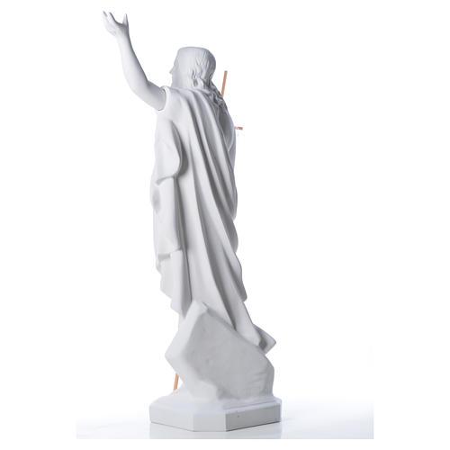 Risen Jesus statue in composite Carrara marble, 100 cm 7