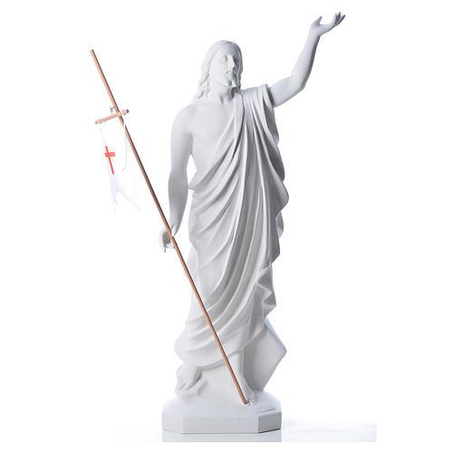 Risen Jesus statue in reconstituded Carrara marble, 100 cm 2