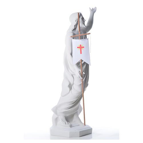 Risen Jesus statue in reconstituded Carrara marble, 100 cm 5