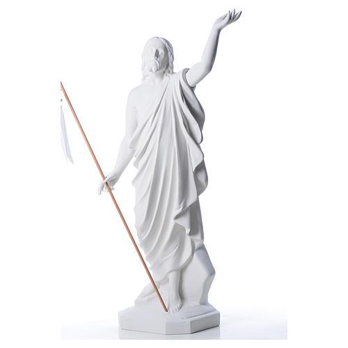 Risen Jesus statue in composite Carrara marble, 100 cm 2