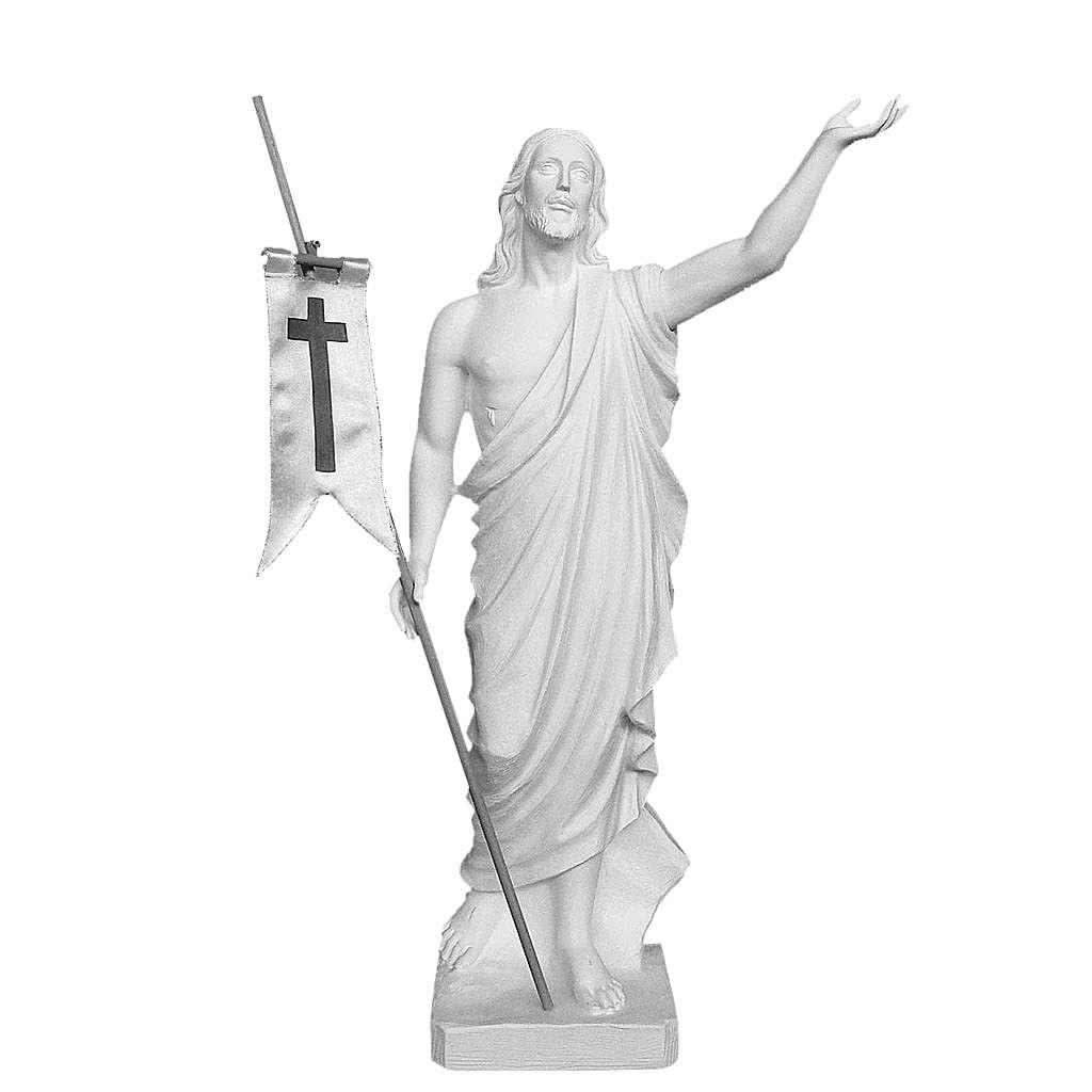 Risen Jesus, 85 cm Composite Carrara Marble Statue 4
