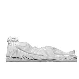 Christ mort 140 cm fibre de verre blanche s1