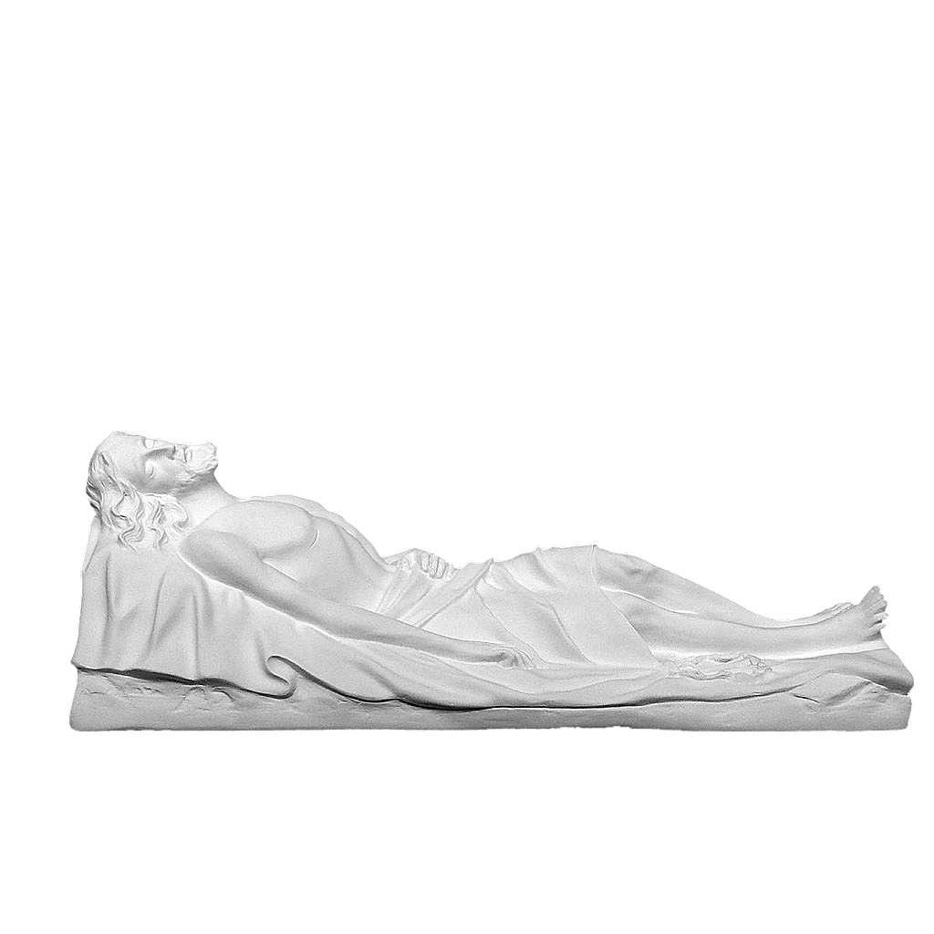 Cristo Morto 140 cm vetroresina bianca 4