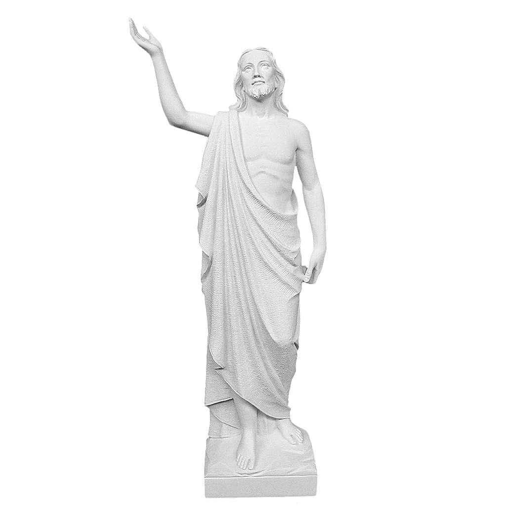 Cristo Redentore 90 cm polvere di marmo 4