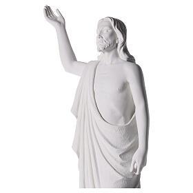 Cristo Redentore 90 cm polvere di marmo s3