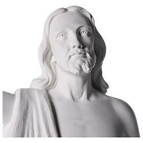 Cristo Redentore 90 cm polvere di marmo s4