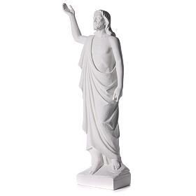 Cristo Redentore 90 cm polvere di marmo s5