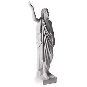 Cristo Redentore 90 cm polvere di marmo s7