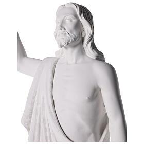 Cristo Redentore 90 cm polvere di marmo s8