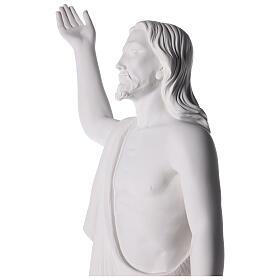 Cristo Redentore 90 cm polvere di marmo s9