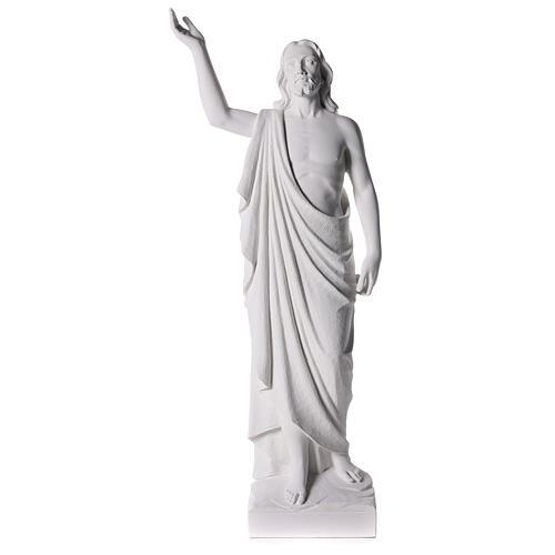 Cristo Redentore 90 cm polvere di marmo 1