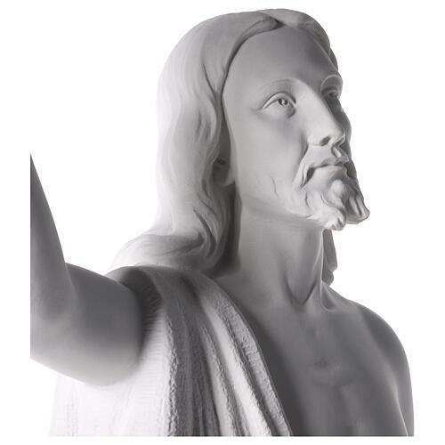 Cristo Redentore 90 cm polvere di marmo 2