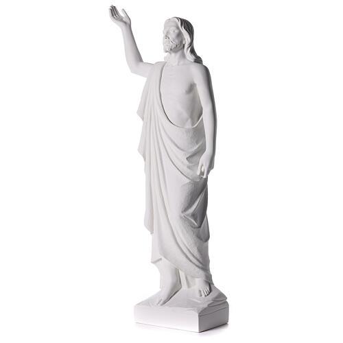 Cristo Redentore 90 cm polvere di marmo 5