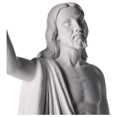 Cristo Redentore 90 cm polvere di marmo 6