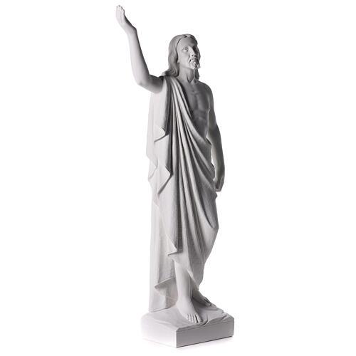 Cristo Redentore 90 cm polvere di marmo 7