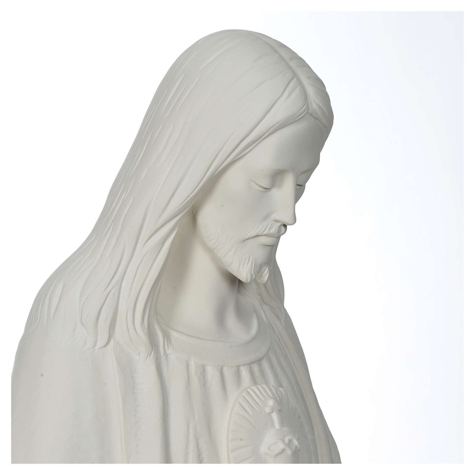 Christ the Redeemer statue in composite Carrara Marble, 130 4