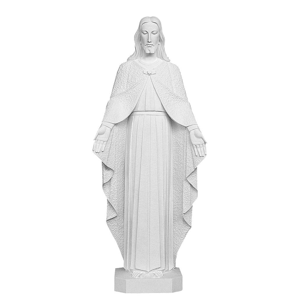 Christ the Redeemer, reconstituted Carrara Marble Statue, 110 cm 4