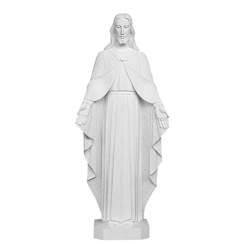 Christ the Redeemer, reconstituted Carrara Marble Statue, 110 cm 1
