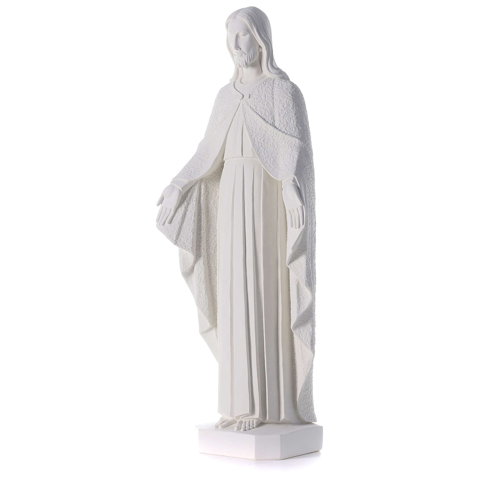 Redentore 110 cm polvere di marmo bianco 4