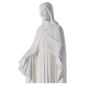 Redentor 110 cm pó de mármore branco