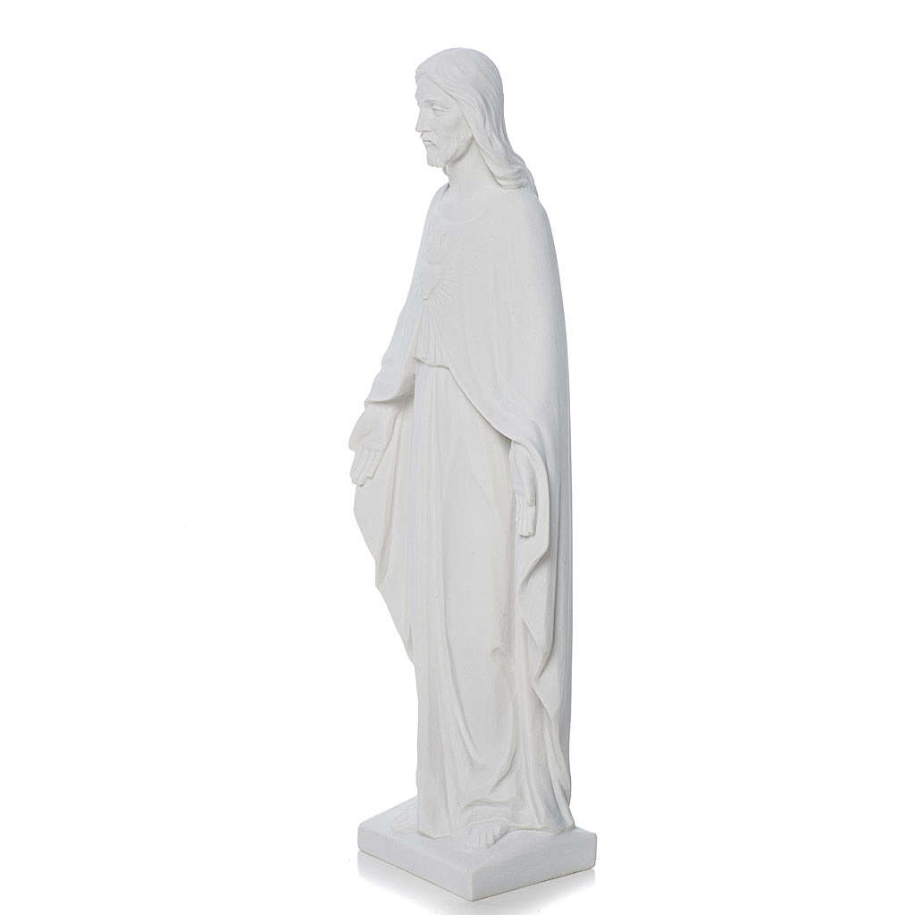 Najświętsze Serce Jezusa marmur biały 36 cm 4