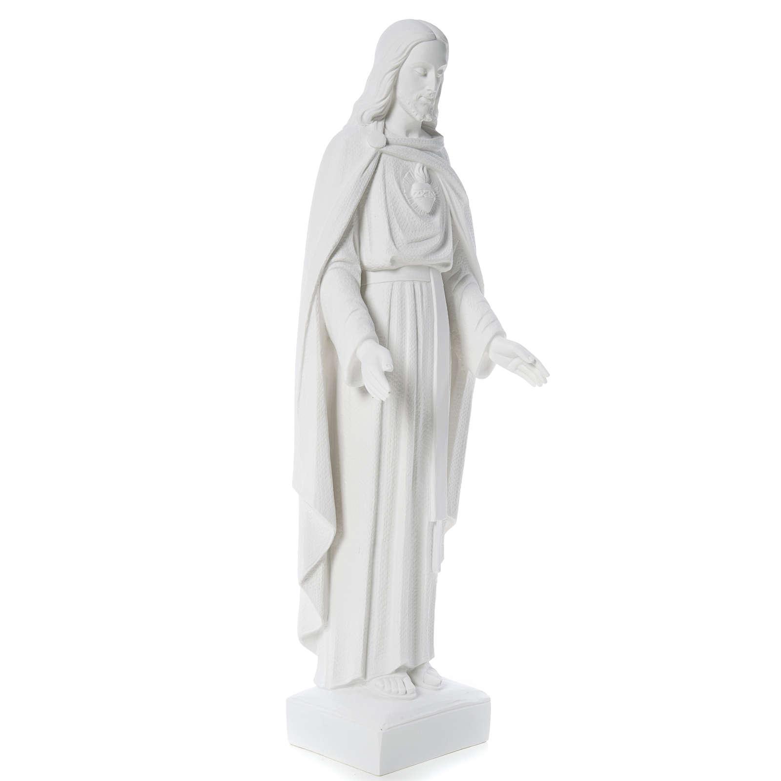 Sagrado Corazón Jesús 62cm  polvo de mármol 4