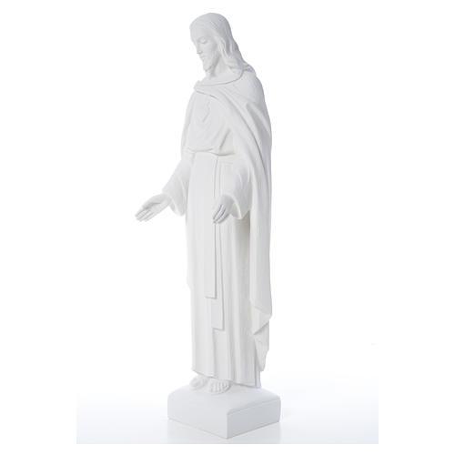 Sagrado Corazón Jesús 62cm  polvo de mármol 8