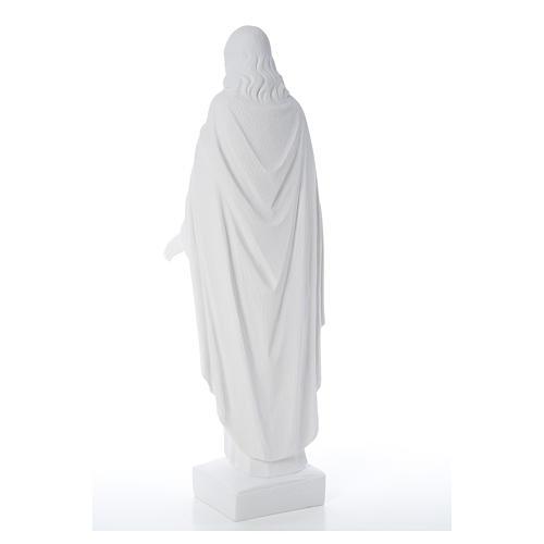 Sagrado Corazón Jesús 62cm  polvo de mármol 9