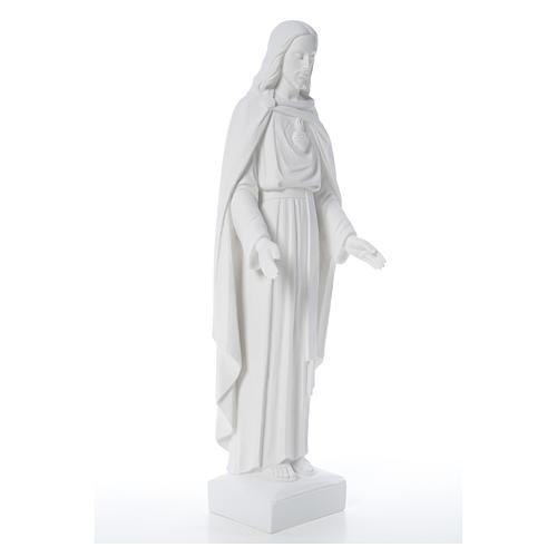 Sagrado Corazón Jesús 62cm  polvo de mármol 12