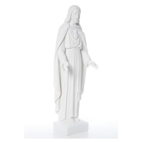 Sagrado Corazón Jesús 62cm  polvo de mármol 16