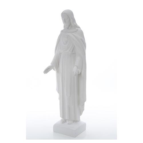 Sagrado Corazón Jesús 62cm  polvo de mármol 18