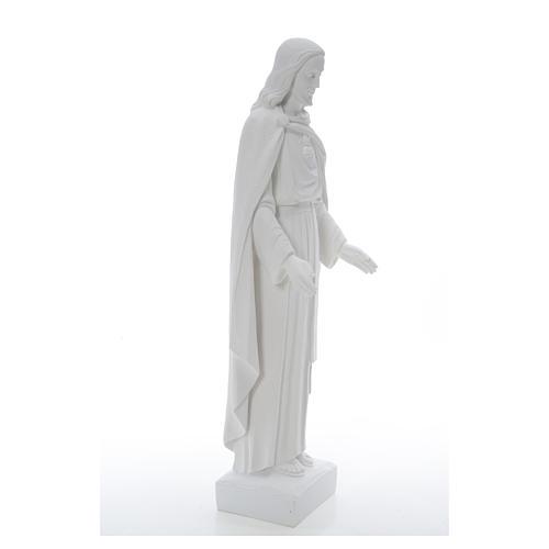 Sagrado Corazón Jesús 62cm  polvo de mármol 20