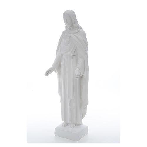Sagrado Corazón Jesús 62cm  polvo de mármol