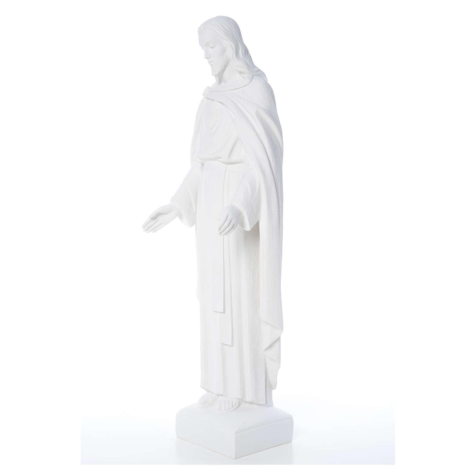 Sacro Cuore di Gesù 62 cm polvere di marmo 4