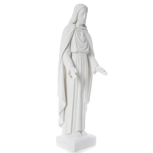 Sacro Cuore di Gesù 62 cm polvere di marmo 11