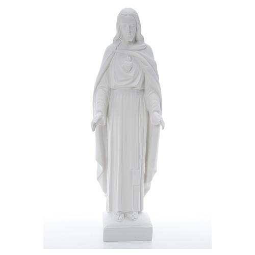 Sacro Cuore di Gesù 62 cm polvere di marmo 17
