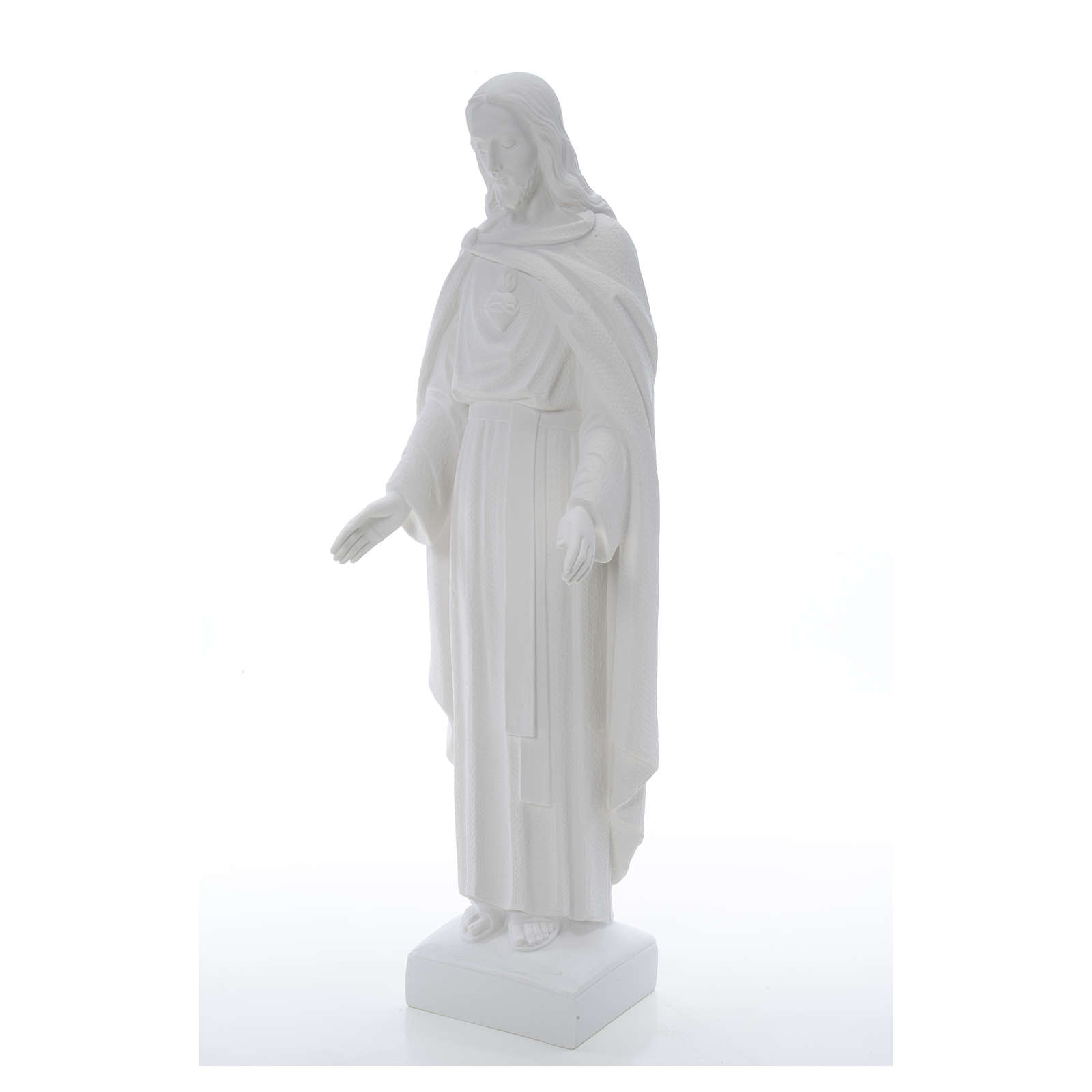 Holy Heart of Jesus, 62 cm Reconstituted Carrara Marble Statue 4