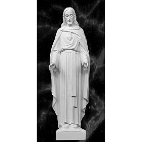 Holy Heart of Jesus, 62 cm Reconstituted Carrara Marble Statue s1