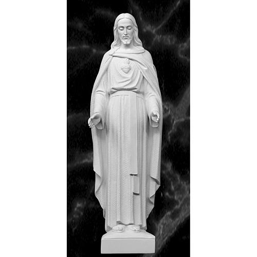 Holy Heart of Jesus, 62 cm Reconstituted Carrara Marble Statue 1