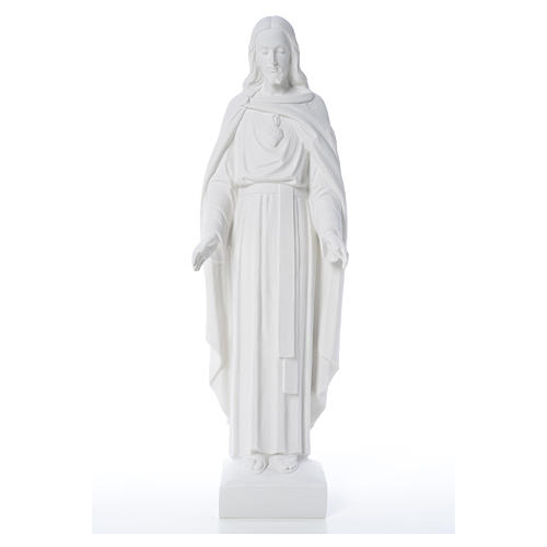 Holy Heart of Jesus, 62 cm Reconstituted Carrara Marble Statue 7