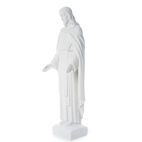 Holy Heart of Jesus, 62 cm Reconstituted Carrara Marble Statue 9
