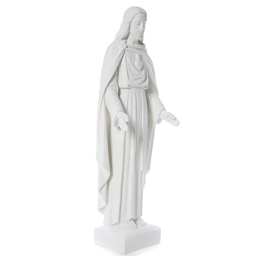 Holy Heart of Jesus, 62 cm Reconstituted Carrara Marble Statue 13