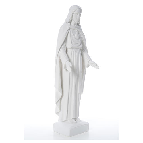 Holy Heart of Jesus, 62 cm Reconstituted Carrara Marble Statue 12