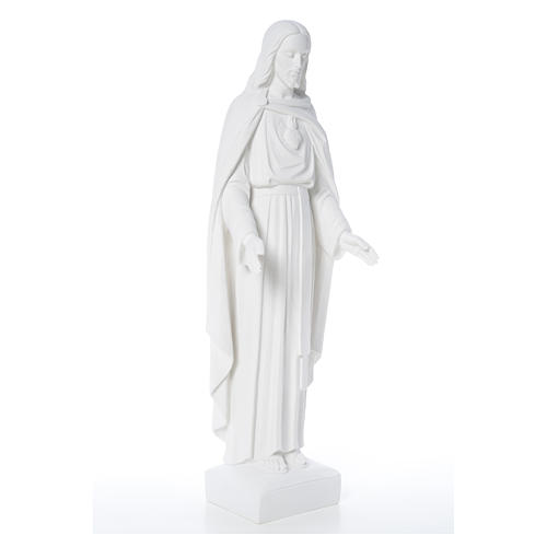 Holy Heart of Jesus, 62 cm Reconstituted Carrara Marble Statue 17