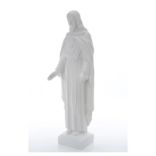 Holy Heart of Jesus, 62 cm Reconstituted Carrara Marble Statue 19