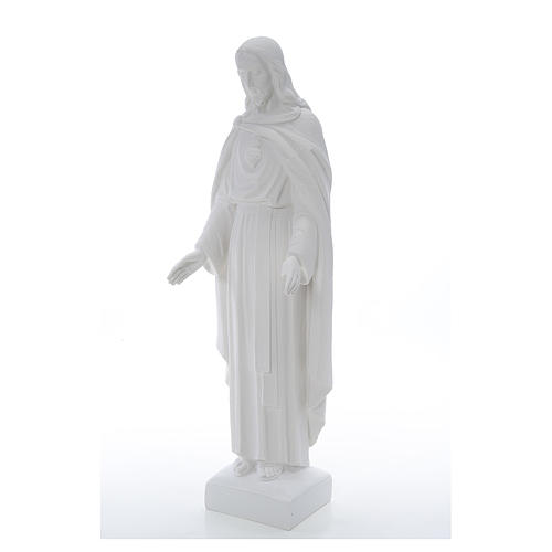 Holy Heart of Jesus, 62 cm Reconstituted Carrara Marble Statue 3
